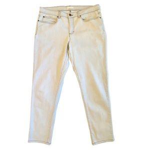 Eileen Fisher Light Gray Straight Leg Jeans- 14